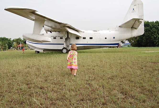rafm girl and a plane