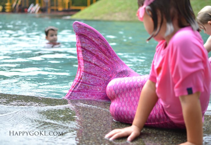There Is A Mermaid In The Pool Happy Go Kl