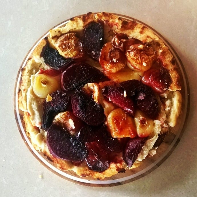 Onion and Beetroot Tart