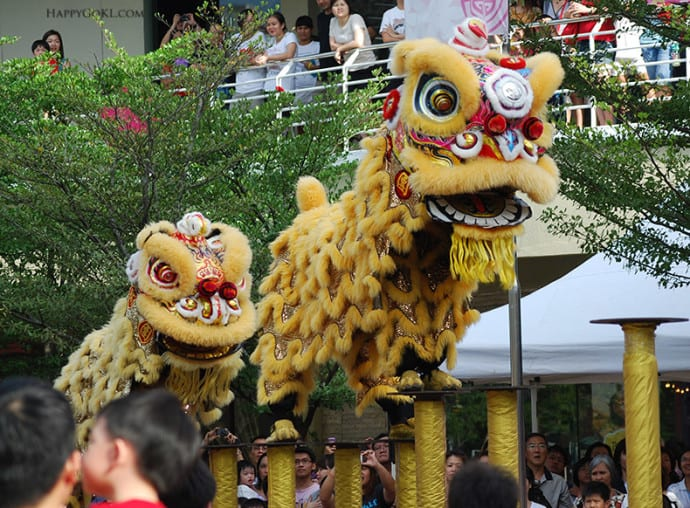 lion dance small