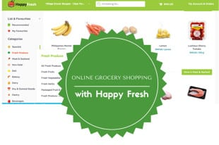 More online grocery shopping: HappyFresh