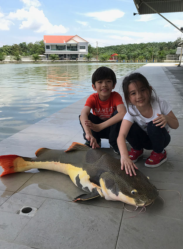 Fishing with kids near kl happy go kl for Big fish happy hour