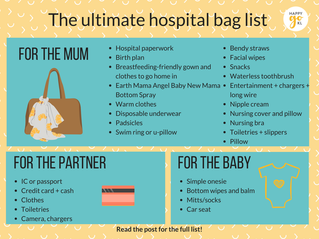 What To Pack In The Birth Bag For Mother